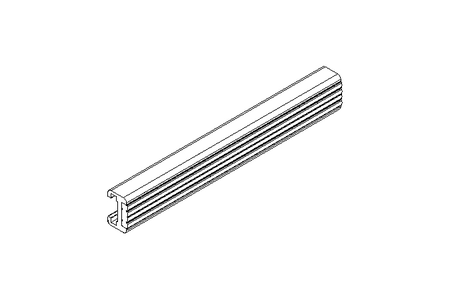 guide rail with small rollers