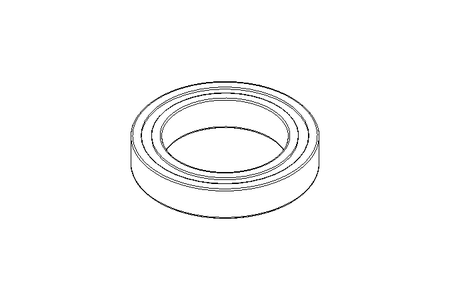Deep groove ball bearing 61805 2RS 25x37