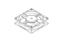DC axial compact fan